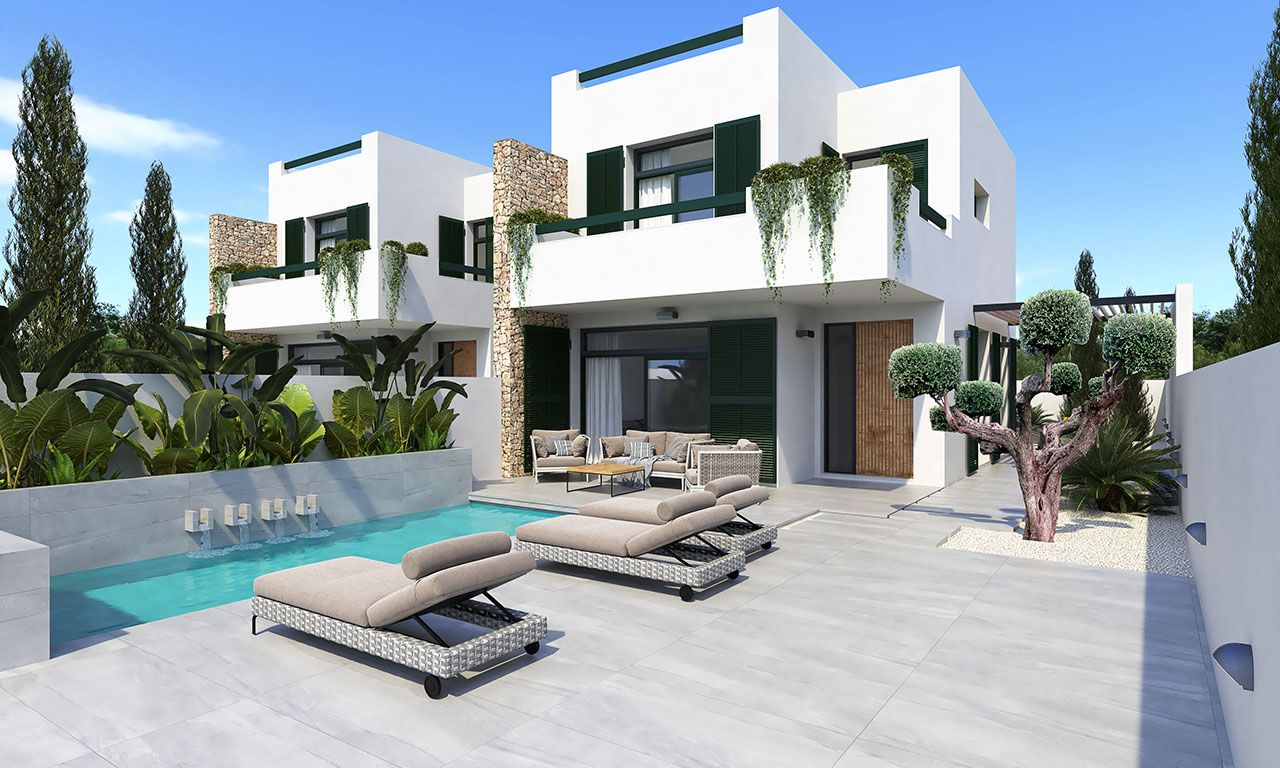 Ref:HA-DNN-104-D01 Semi detached house For Sale in Daya Nueva