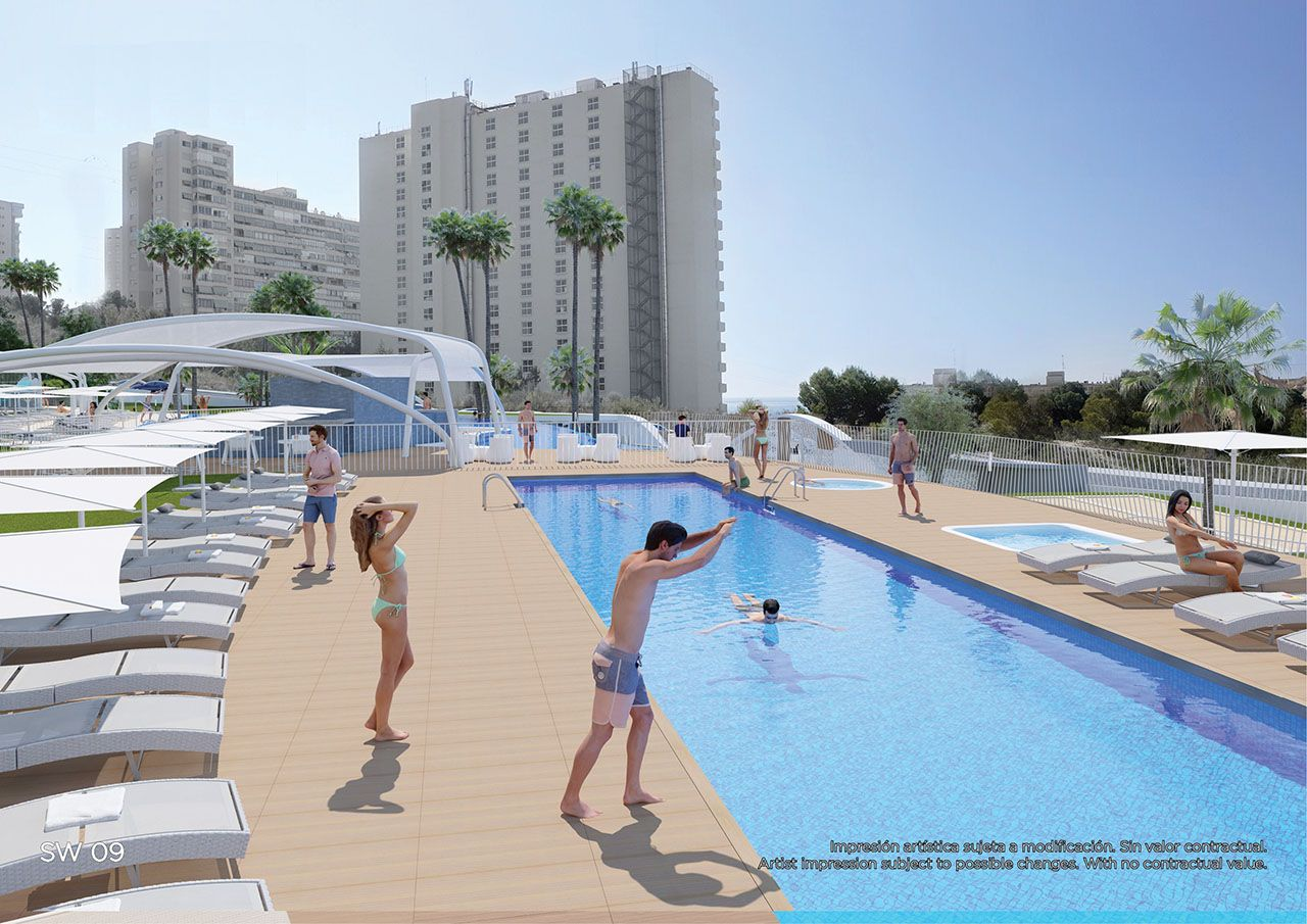 Ref:HA-BEN-110-A03 Single storey apartment For Sale in Benidorm