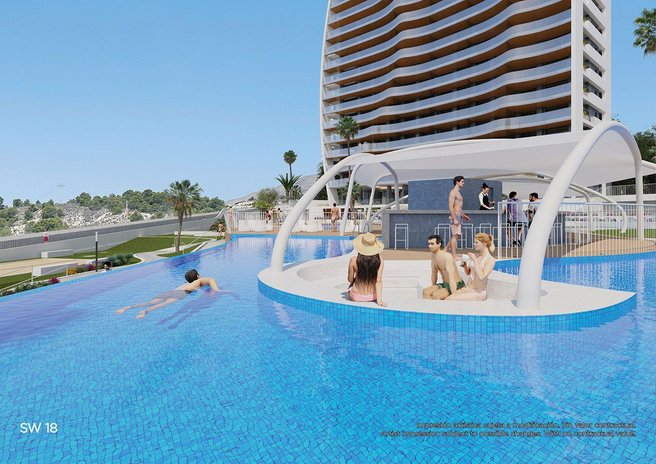 Ref:HA-BEN-110-A04 Penthouse For Sale in Benidorm